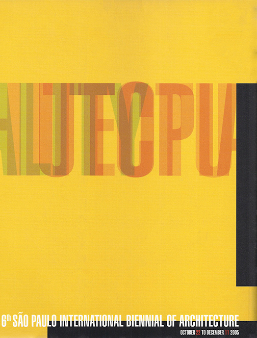 Catálogo da 6º Edição da Bienal Internacional de Arquitetura